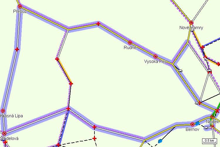 Mapa cyklotrasy